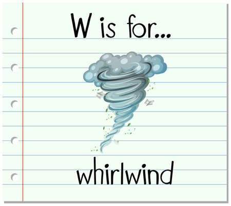 whirlwind: Flashcard letter W is for whirlwind illustration Illustration
