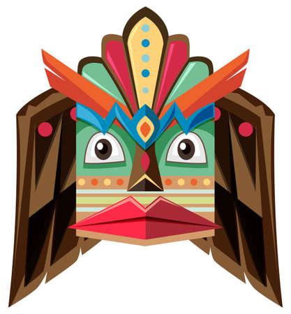 aborigin: Craft design with human head illustration