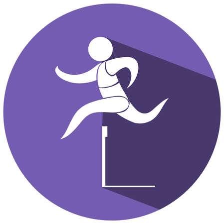 hurdle: Sport icon for hurdle running illustration Illustration