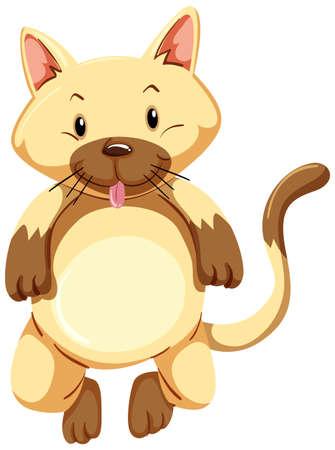 Cute kitten with brown fur illustration Illustration
