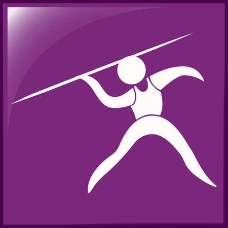 javelin: Sport icon design for javelin illustration Illustration