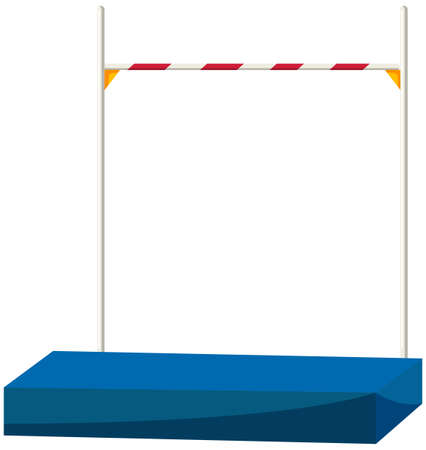 high jump: High jump bar and equipment illustration
