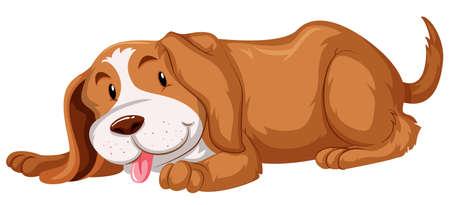 cute dog: Cute dog with brown fur illustration Illustration