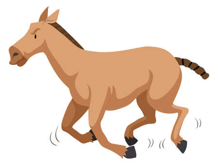 brown horse: Brown horse running fast illustration Illustration
