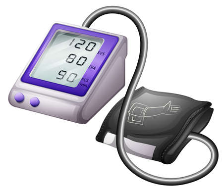 blood pressure monitor: Blood pressure monitor kit illustration
