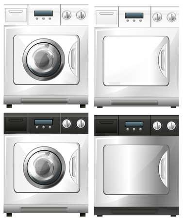 Machine à laver et sèche-linge Machine illustration