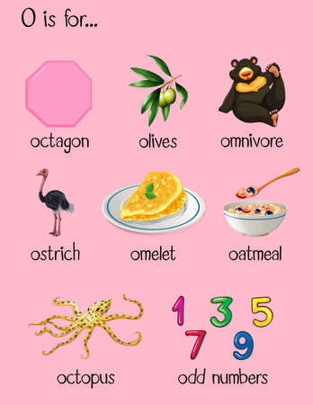 omnivore: Many words begin with letter O illustration