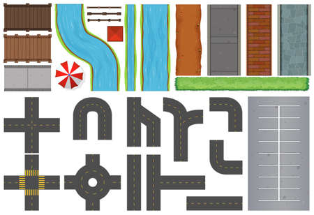 pavement: Different constructions of roads and pavement illustration