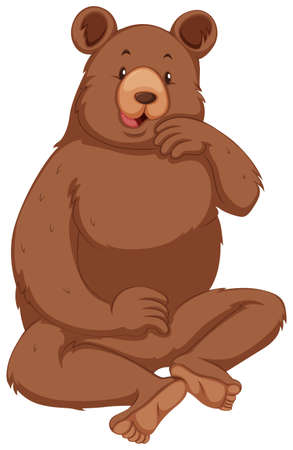 grizzly bear: Grizzly bear with brown fur illustration Illustration