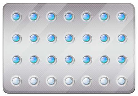 birth control pill: Birth control pills in pack illustration