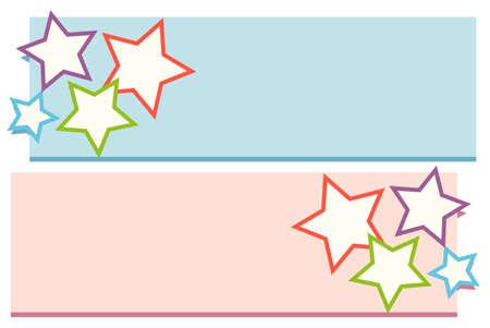 lable: Lable design with stars illustration Illustration