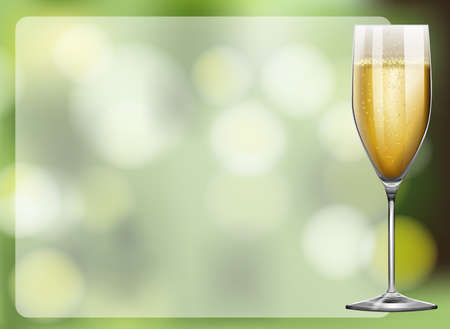 champagne celebration: Frame design with champagne glass illustration Illustration