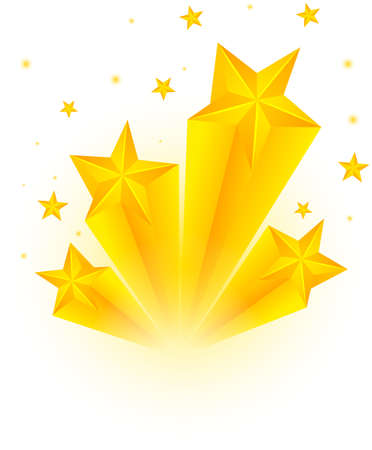 Decoration design with many stars illustration 矢量图像