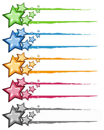 Decoration design with stars in many colors illustration Vectores