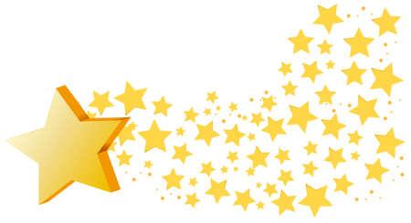Background design with many stars illustration