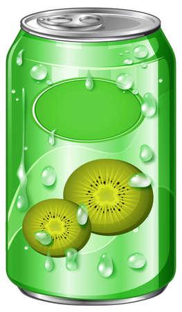 Can of kiwi juice illustration Illustration