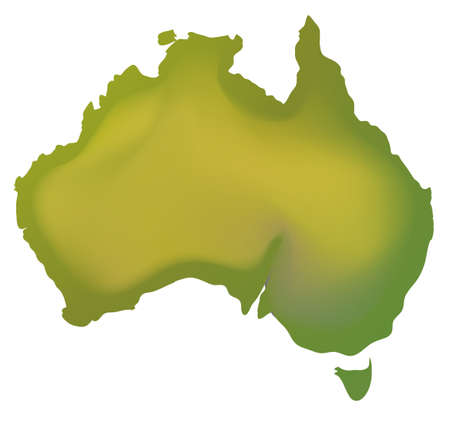 geography: Geography map of Australia illustration