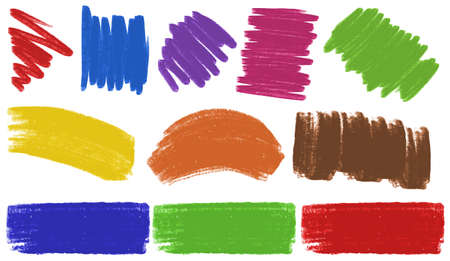 brush: Brush strokes in many colors illustration