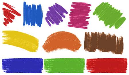 strokes: Brush strokes in many colors illustration