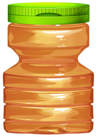 Plastic bottle with green lid illustration