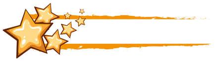 diseño de la etiqueta con las estrellas amarillas ilustración