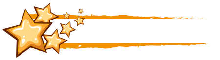 Label design with yellow stars illustration