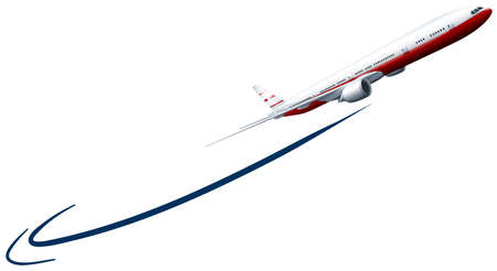 Avión que vuela en el cielo ilustración