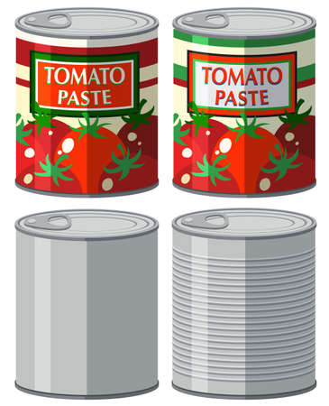 aluminum: Aluminum can with and without label illustration Illustration