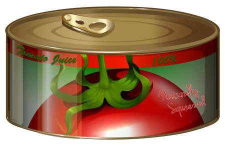 aluminum: Tomato juice in aluminum can illustration Illustration