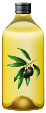aceite de oliva: Botella de ilustración aceite de oliva