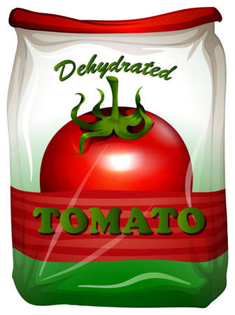 Packaging design with tomato label illustration