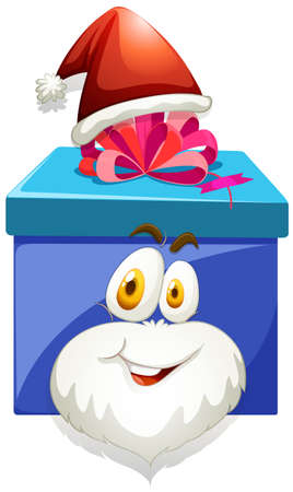 preset: Blue box with pink ribbon illustration Illustration