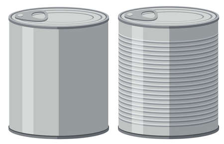 aluminum: Two aluminum cans without label illustration Illustration