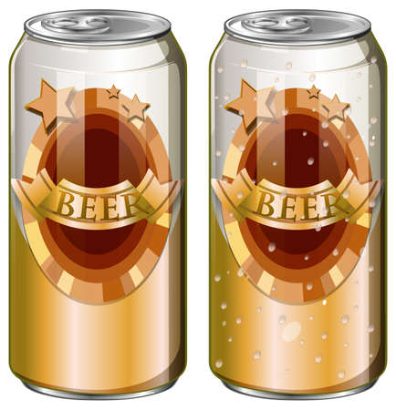 Two cans of beer illustration