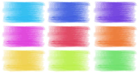 Brush strokes in different colors illustration Stock Vector - 63110007