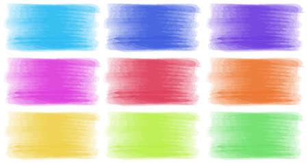 brush strokes: Brush strokes in different colors illustration