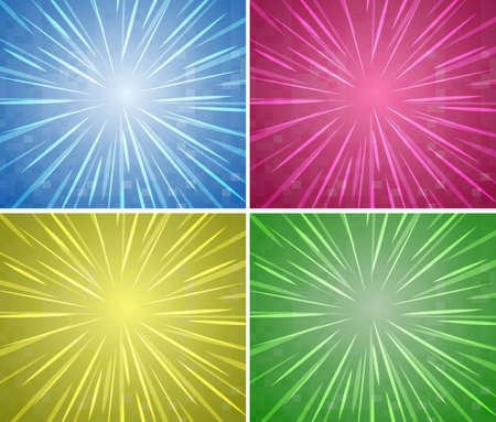 glows: Background design in four colors illustration