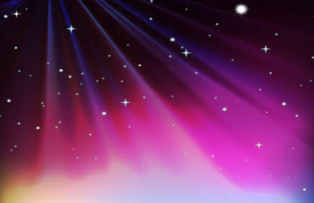 glows: Background design with red and purple sky illustration