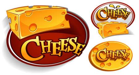 ilustración de queso Ilustración de vector