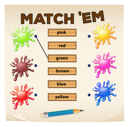matching: Matching game with colors illustration