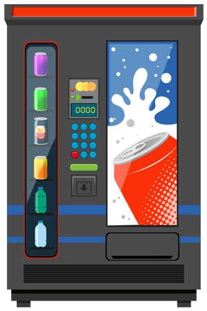 청량 음료 그림에 대한 자동 판매기