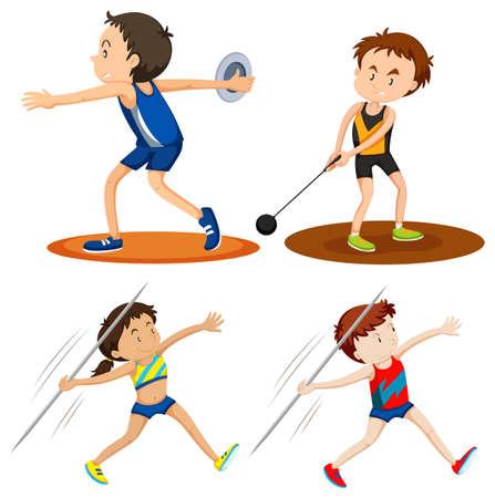 Personnes faisant de l'athlétisme sportif