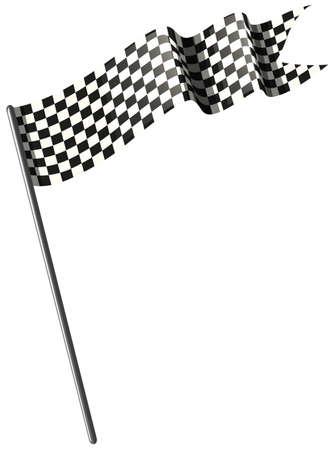 Het rennen van vlag op witte illustratie als achtergrond