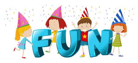 Font design for word fun illustration