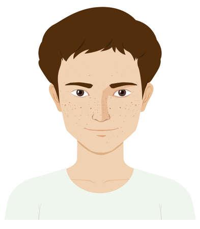 skin problem: Man with skin problem illustration Illustration