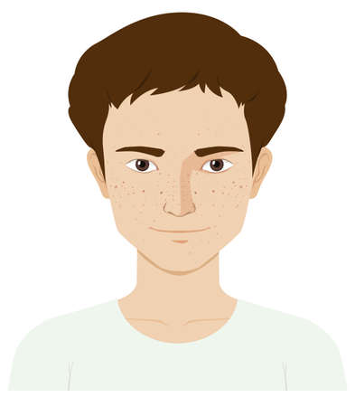 Man with skin problem illustration Illustration