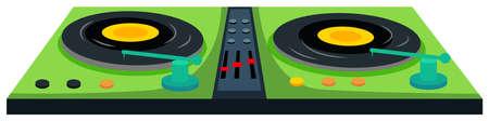 Disc jockey machine with sound control   illustration