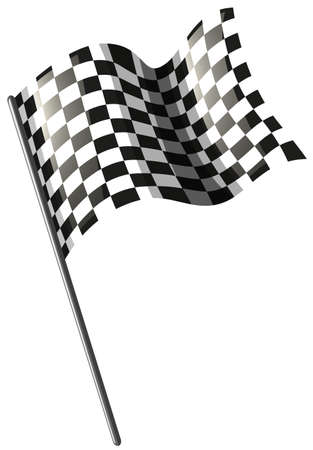 signal device: Motocross racing flag on white illustration