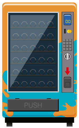 Vending machine with no drinks illustration