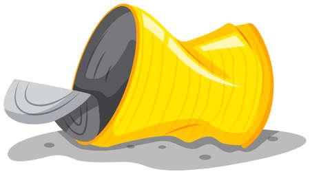 Aluminum can on the floor illustration